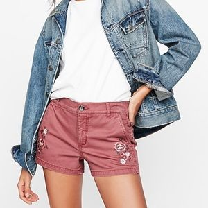 NWT Express Floral Embroidered Shorts 2